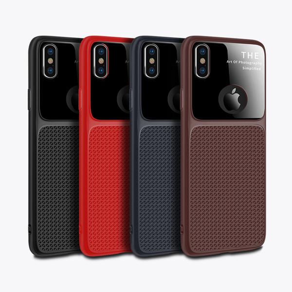 Pour Iphone XS max XR X 6S 7 8 PLUS miroir cas de téléphone portable souple TPU silicone housse de protection pour Samsung Galaxy S9 plus note 9 nouveau