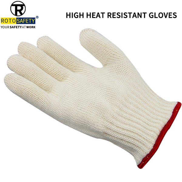 Double Knit Gloves Cut Resistant Gloves Aramid Flame Heat Resistant Oven Gloves,1 Piece