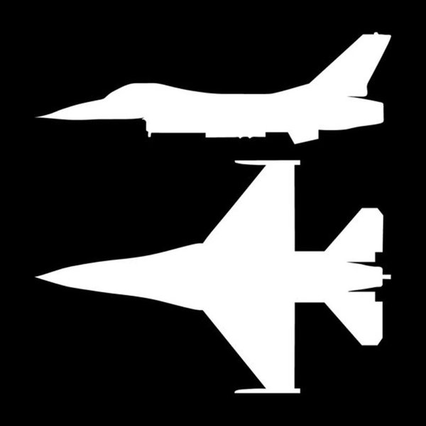 Tablet 4 x F 16 Falcon Jet Plane style 1 Decal Sticker Laptop Truck Window