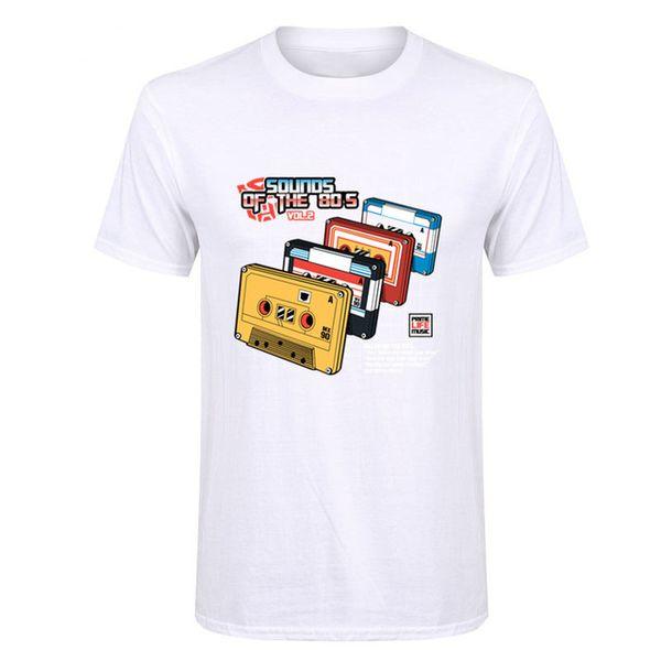 2019 Womens luxury designer t shirts Popular T Shirts Short Sleeve Sounds of the 80s Vol2 t-shirt Cheap Sale Casual Music t-shirts Man