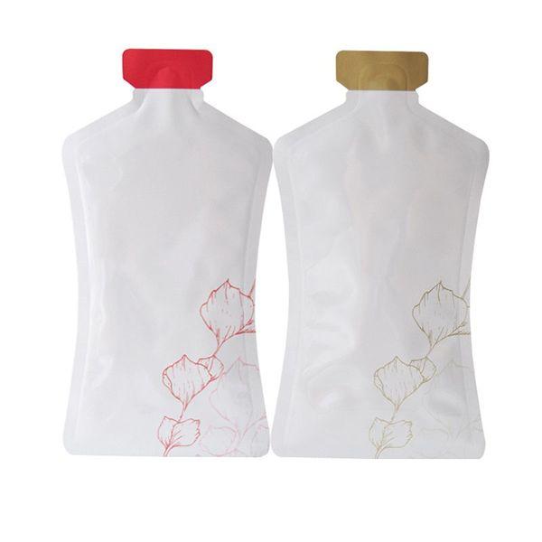 Алюминиевая фольга мешок бутылки Shaped сумка для ухода за кожей Косметика Пробный пакет сумка Sample Шампунь Лосьон Индивидуализация ZC1678