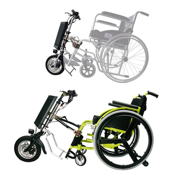 top popular Free shipping 36V 250W electric handcycle lightweight electric power wheelchair conversion kit 2020