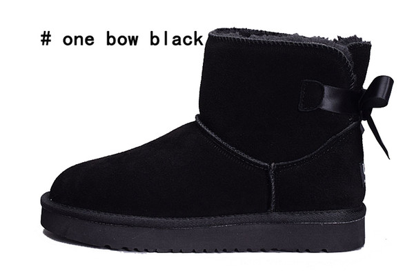 one bow black
