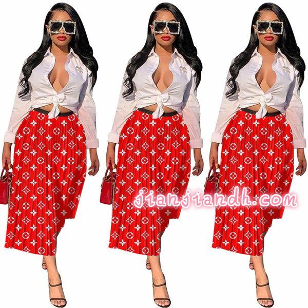 jianjian20 / C025 modelos de explosión de alta gama de moda 19 sexy Europa y América pliegan faldas largas y sueltas debajo del vestido de discoteca mujeres 816