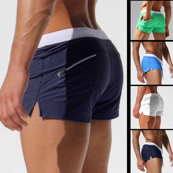 Brand Shorts Men Zipper Pocket Casual Mens Shorts Fast Dry Boardshorts Joggers Men's Trunks Summer Mens Short Homme Masculino Y190508