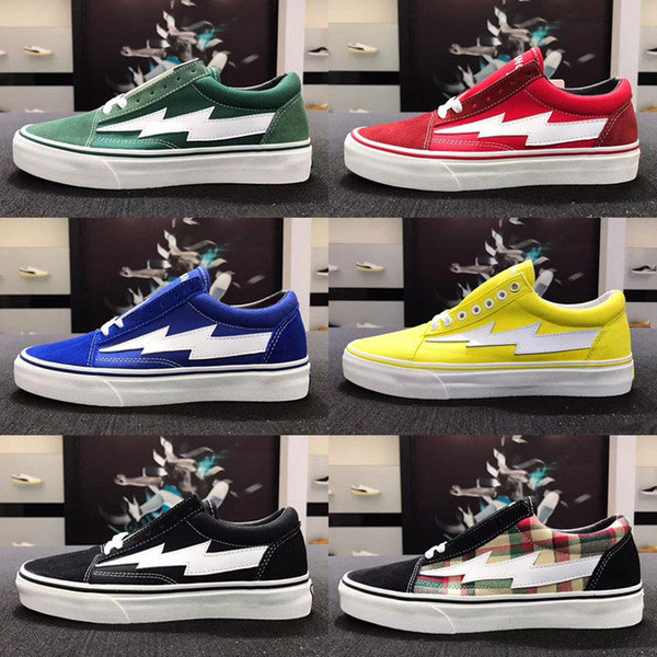 8 colores Top Revenge X Storm Old Skool Diseñador Cavnas Casual Shoes Womens Men Low Cut Red Blue White Black Casual Shoes