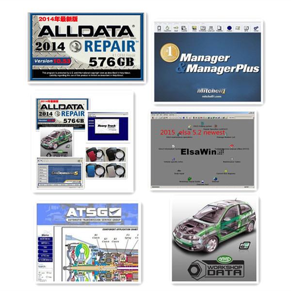 Alldata y mitchell software 2016 el más nuevo software de reparación de automóviles con todos los datos V10.53 + mitchell 2015 + datos vívidos de taller ect 50in1tb hdd