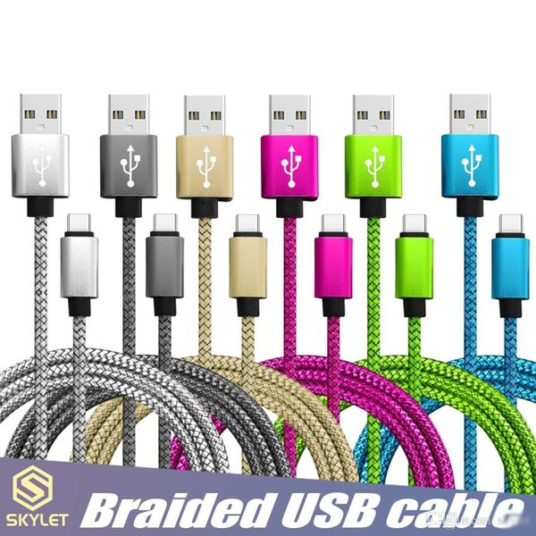 SKYLET USB Cable Fast Charging Data Sync Phone Cable Cords USB C Type C Micro USB for Universal Cellphones 2222