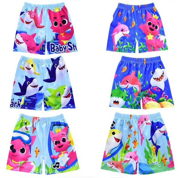 Boys Swim Trunks Kids Designer Clothes Baby Shark Cartoon Swimming Trunks Board Shorts Swimwear Summer Beach Shorts 100-140cm A6401