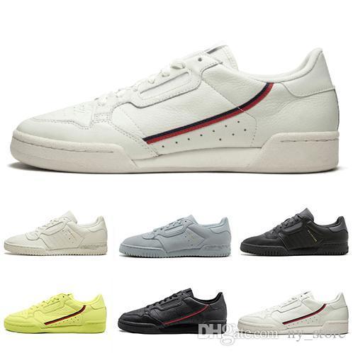 2019 Калабасас Powerphase Белого Continental 80 Повседневной обувь Kanye West Pure Основной черный OG белой Мужчины Женщина Trainer Спорт кроссовки