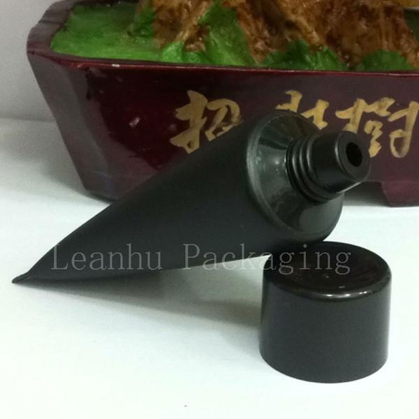 30G X 50 Пустая черная мягкая трубка для косметической упаковки, образец 30 мл лосьона для крема из пластмассы, 1 унция Unguent Containers Tube