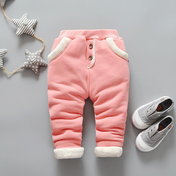 good quality 2019 baby girls pants cotton thick thermal new toddler clothing girls winter warm trousers infant baby girls clothes