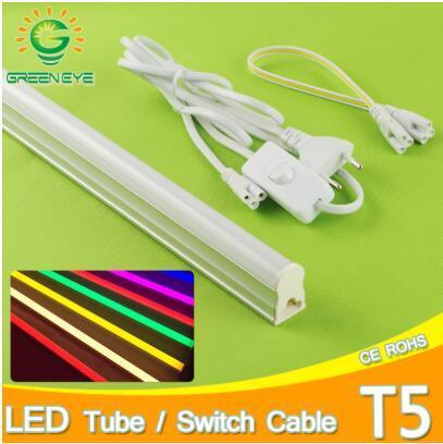 UE Standard 220v 10w 60cm LED Tube T5 / 1.5m Interrupteur Câble Fil / 30cm Câble Connecteur Adaptateur Tube Intégré Adaptateur 60cm