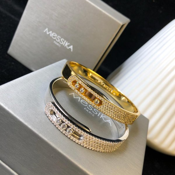 Designer Bracelet Move Collection Diamond Bracelet 2019 Luxury Fashion Accessories 18K Gold Diamonds Full Diamond Bracelet Mobile Diamonds F