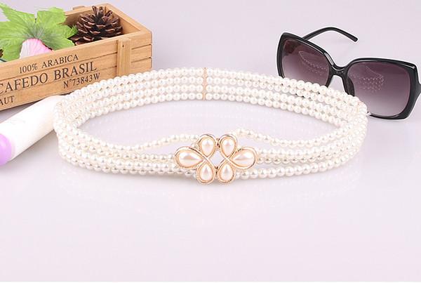 2019 nuovo stile Vendi caldo joker moda perla imposta diamante fiore catena di vita Abito cintura Moda tendenza cintura per le signore