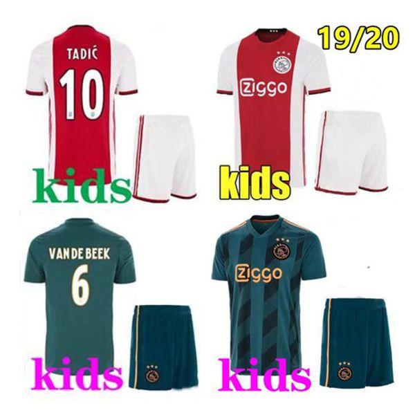 Grosshandel Thailandische Qualitat 19 20 Ajax Fc Kinder Fussball Trikot 2019 Klaassen Fischea Bazoer Milik Heim Auswarts Fussball Uniformen Trikot Ajax