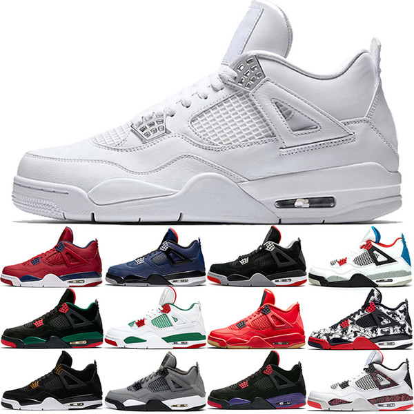 JordanRetroJordansAir Basketball Shoes 4s Bred Men Stock X What The 4 Loyal Blue Pure Money Mens Trainers Sports Sneakers