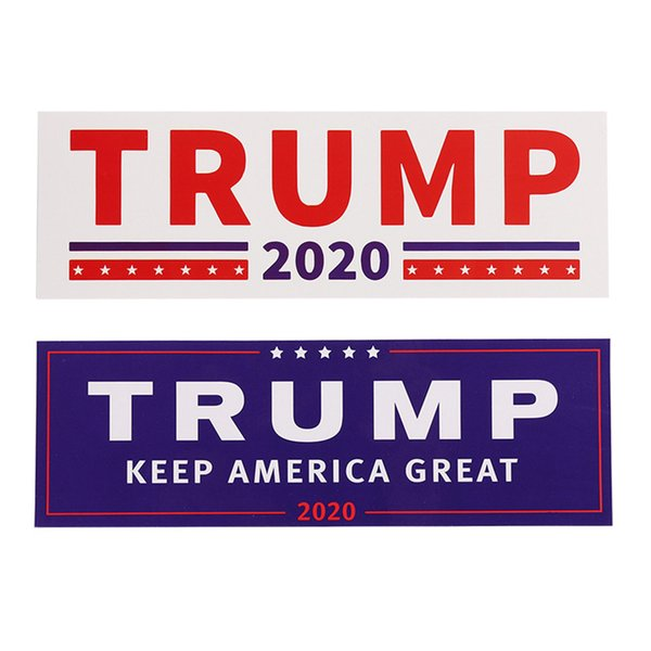 NEW 2 Styles Donald Trump 2020 Car Stickers Bumper wall Sticker Keep Make America Great Decal for Car Styling Vehicle Paster DHL