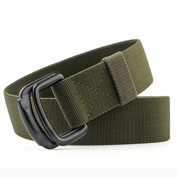 Nylon Canvas Belt men Army Tactical Belts Outdoor sport double buckle weave cowboy pants Belt