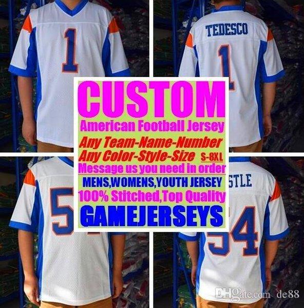 Todos Costurado Personalizado camisas de futebol americano Miami Pittsburgh faculdade autêntica barato basquete basquete mens mulheres juventude EUA 4xl homens