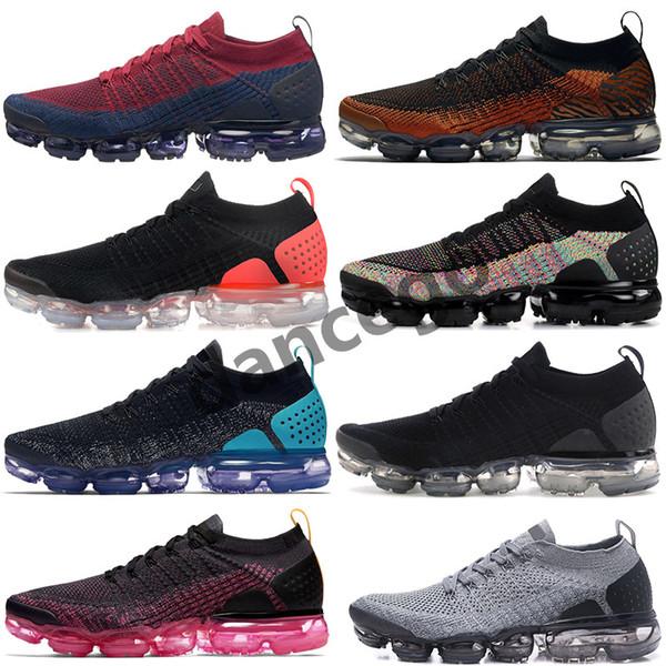 Nueva llegada Nike Vapormax FlyKnit 2.0 animal pack zebra mango diseñador de zapatos Mens Womens Cheetah cocodrilo crema ligera zapatillas de deporte zapatillas US 5.5-13