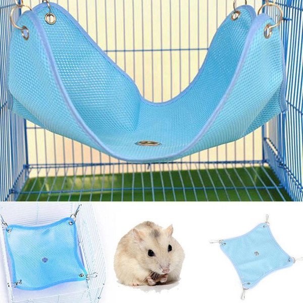 Summer Pet Hammock Hanging Bed House For Hamster Mice Rat Rodents Cage Swing Toys Small Pet Supplies S/m