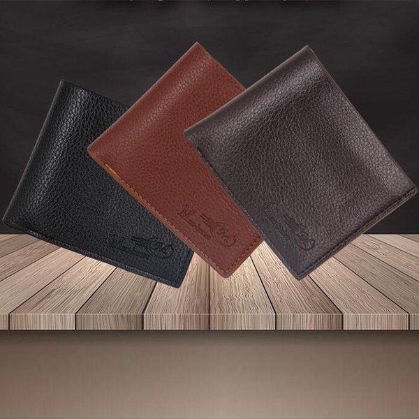 9ed3c54932d4 Top 2018 Vintage Men Leather Brand Luxury Wallet Short Slim Male Purses  Money Clip Credit Card Dollar Price Brown Leather Wallet Buxton Wallet From  ...