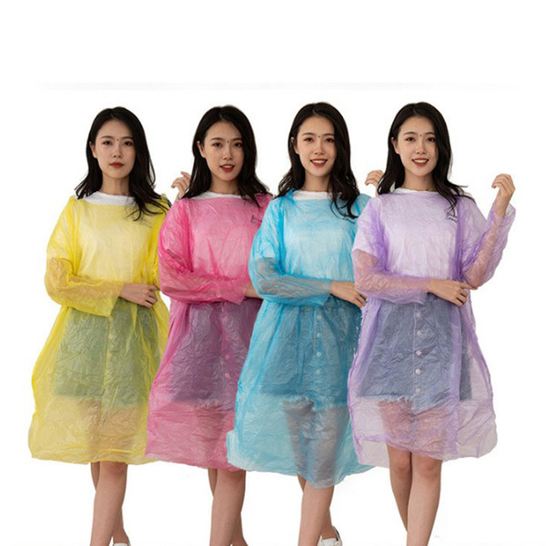 2S 30g Disposable Transparent Raincoat Adult Emergency Waterproof Hood Poncho Travel Camping Must One Time Rain Coat Impermeable KC804
