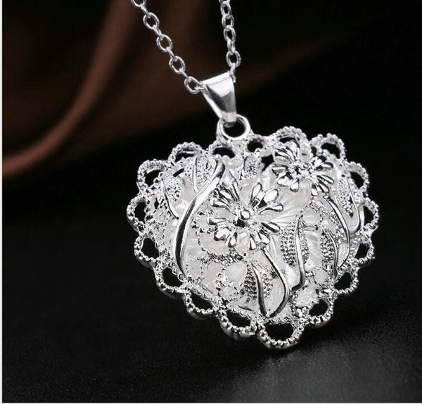 Hollow Love Heart DIY Secret Message Locket Necklace Pendant Vintage Gift For Lover Couples Custom Message
