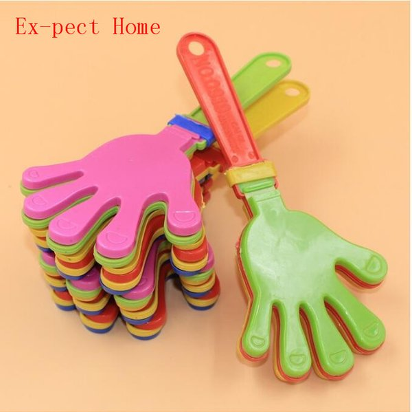 300pcs Plastic Hand clapper clap toy cheer leading clap for Olympic game football game Noise Maker Baby Kid Pet Toy DHL Free
