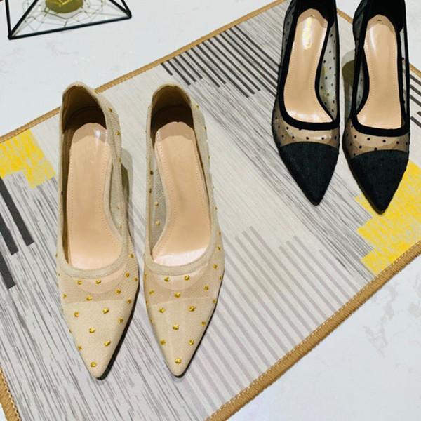 Livraison gratuite de chaussures mode femme à lacets pointus à talons hauts en simili cuir documentaire chaussures de 8 cm de velours noir très bien livré dans une boîte beige