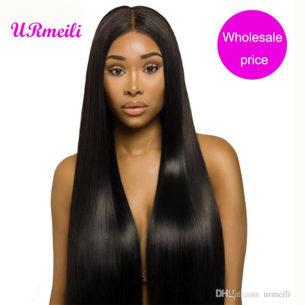 Peruvian Straight Human Hair Bundles 10a grade virgin hair straight Double Weft 3/4 Pieces dhgate Remy Human Hair Bundles 8-32 inch URmeili