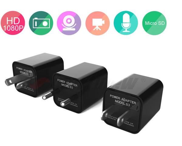 Высокое Качество USB Адаптер Зарядное Устройство Мини камера ЕС / США Plug HD 1080 P Настенная Камера UX-8 Обнаружения Движения Видеорегистратор Безопасности DV Видеокамера