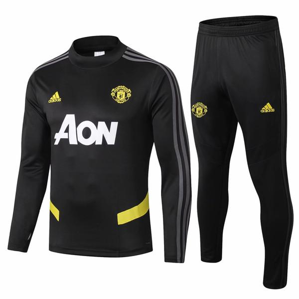 Dernier modèle 19 20 nouvelle saison survêtements de football de Manchester combinaison d'entraînement POGBA LUKAKU RASHFORD veste de football chandal taille S-2XL
