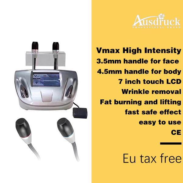 2018 Nuovo Vmax Ultrasound hifu Cartridge Body face lifting Bellezza skin tightening anti-aging antirughe Macchina