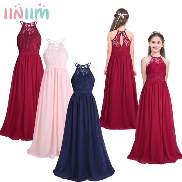 Compre Iiniim Childrens Vestidos Fiesta De Cumpleaños Vestido Para Niños Princesa Verano Encaje Weeding Vestidos Niñas Ball Tutu Vestido De Fiesta