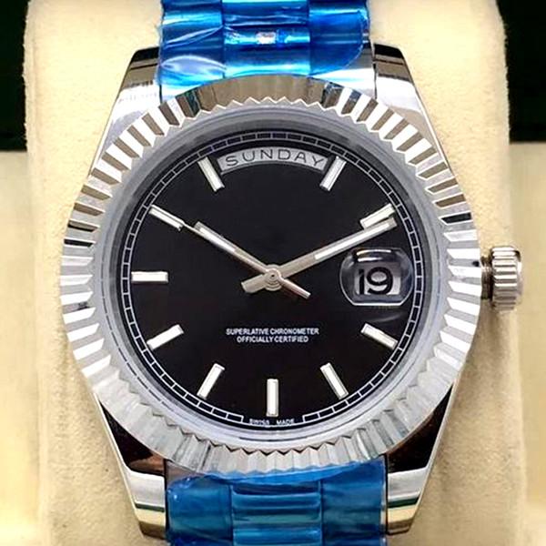 Top Quality atacado relógio DAY DAITE mecânico automático Duplo calendário 41 MM mens relógios pulseira de aço Inoxidável relógios de pulso
