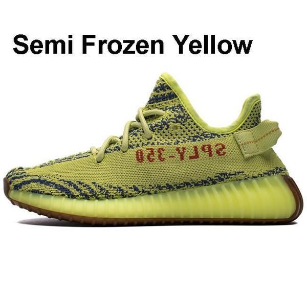 Halb gefrorenes Gelb