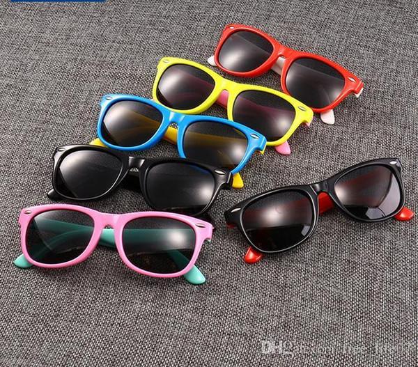 Manufacturers New Spot Wholesale Classic Silicone Fashion Radiation Polarized Sunglasses Baby Glasses Children's Sunglasses Multicolor Suppo