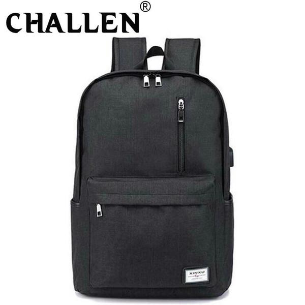 New Fashion Casual Backpack Multifunction USB charging travel bag Laptop backpack Men Women School C44-61
