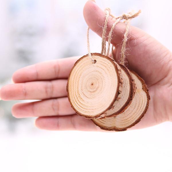 120pcs Fette di legno Fai da te Decorazioni artigianali Festa di compleanno Bambini Numero di carte da tavolo Decorazione di nozze Tag regalo di legno Caldo