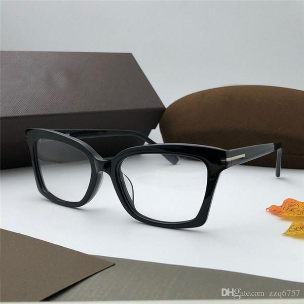 Occhiali trasparenti all'ingrosso nuovi stilisti 5552 montatura in lastra di alta qualità lenti trasparenti stile semplice occhiali trasparenti