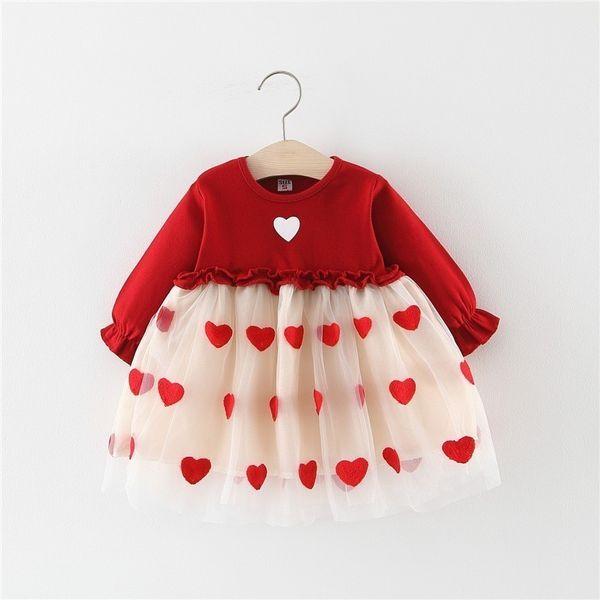 2019 Hot Sale Baby Girls Sprign Autumn Party Dress Kids Princess Wedding Dress Toddler Girls Fashion Cotton Long Sleeve