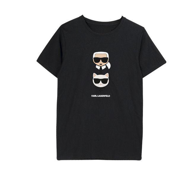 Smzy Karl Camiseta Mujer Verano Sin etiquetas Camisetas Chica Camisetas Moda Camiseta estampada divertida Niño Blanco Casual Mujer Camisetas baratas Q190425