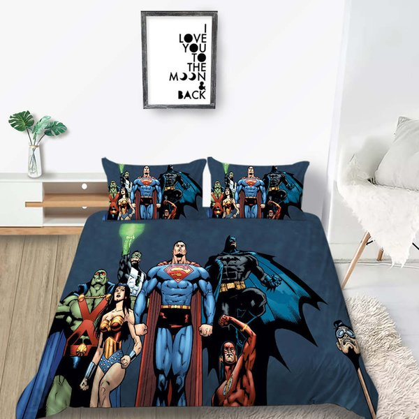 Justice League Bedding Set King Size Fashionable Classic Duvet Cover  Superman Queen Full Twin Single Double Bed Cover With Pillowcase Bedding  For Sale ...