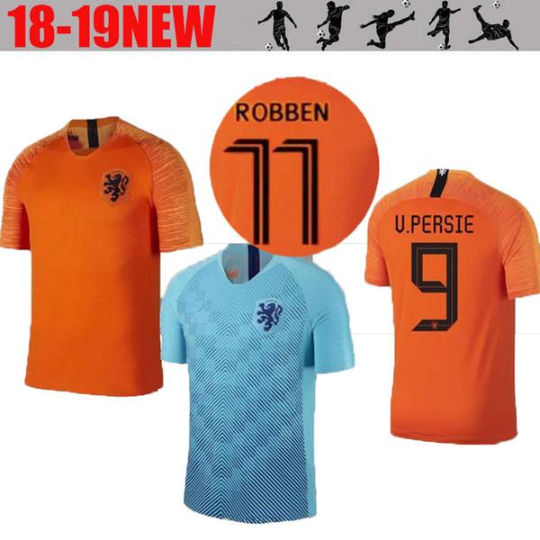 fd55a82c5 19-2020 Nederland soccer jersey Netherlands home away orange MEMPHIS JERSEY  ROBBEN 18 19 thai