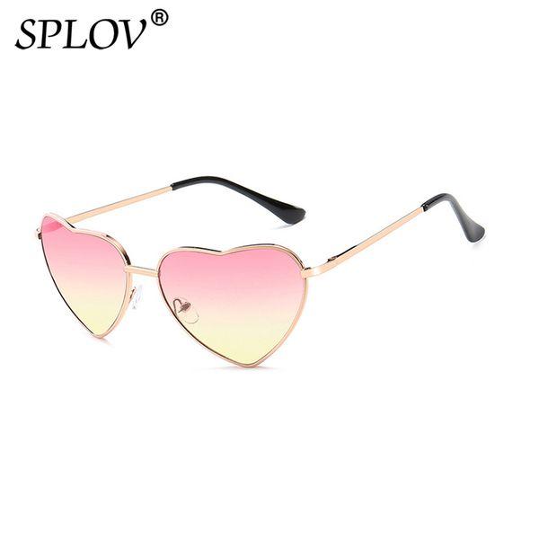 2019 New Fashion Heart Sunglasses Women Hot Sale Classic Retro Gradient Ramp Candy Color Sun Glasses Metal Shades Oculos De Sol
