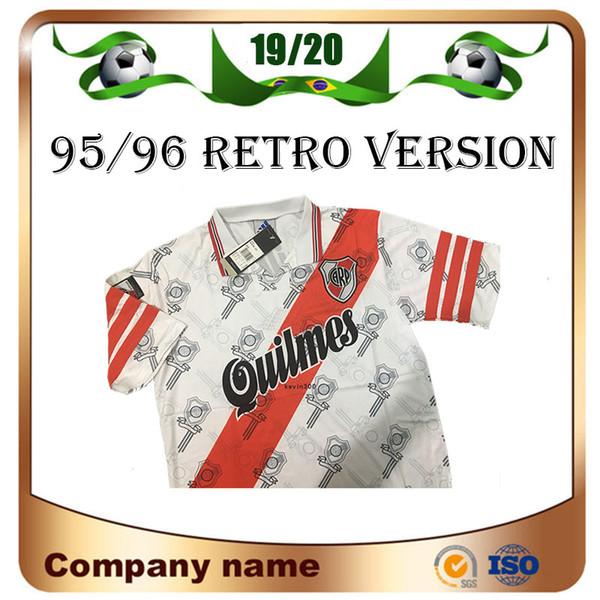 1995/1996 Retro versione maglie calcio Plate Plate 95/96 Home CANIGGIA Francescoli Camisas de Futebol Calcio Camicia da calcio qualità uniformi