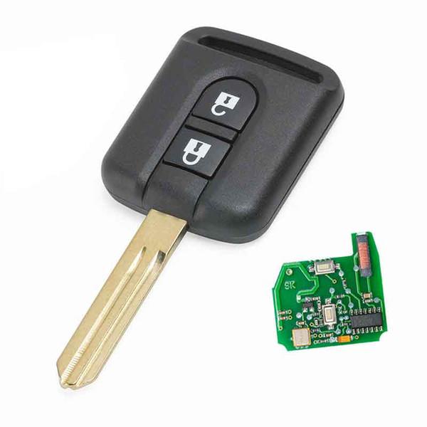 2Button Remote Transmitter key Fob 433MHz ID46 for X-trail Navara Micra K12 5WK4 876/818