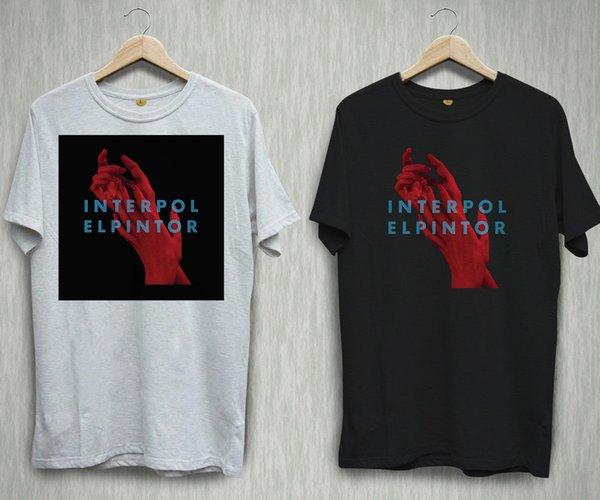 INTERPOL EL Pintor Album Indie-Rockband-Schwarz-Weiß-T-Shirt Hemd-T-Stück S-2XL Lustiges freies Verschiffen Unisex-beiläufige Spitze
